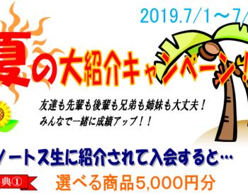 ノートス夏の大紹介キャンペーン、スタート!