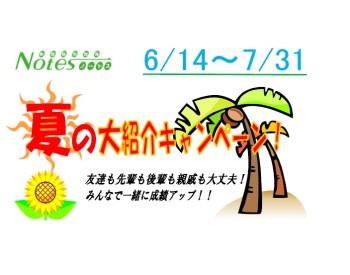 【7月28日まで】夏の大紹介キャンペーンスタートです!